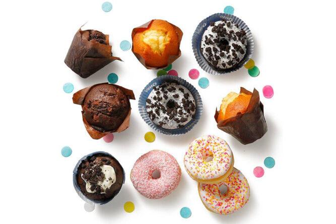 Traktatiemix muffins en donuts